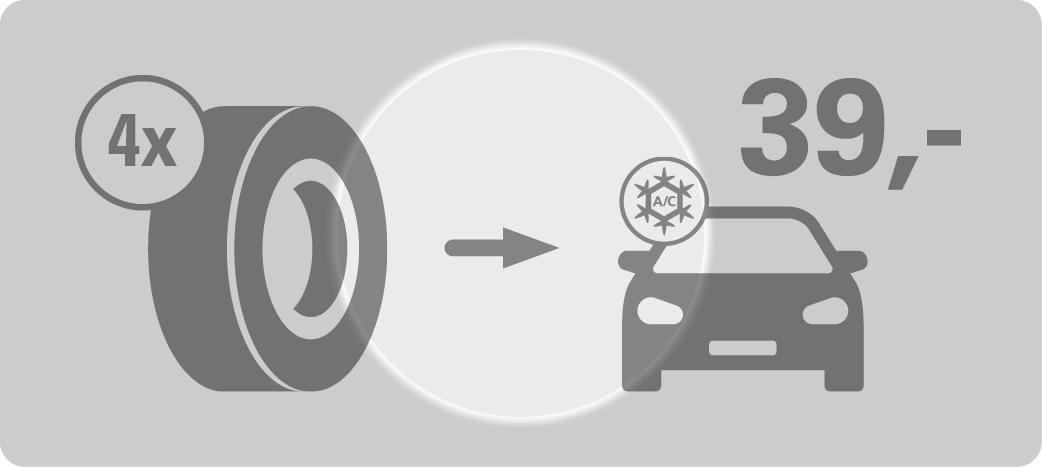 4 Reifen + Klimaservice